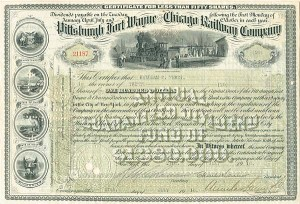 Pittsburgh Fort Wayne and Chicago Railway Company - SOLD