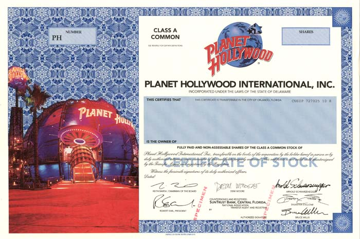 Planet Hollywood International, Inc.