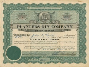Planters Gin Company - SOLD