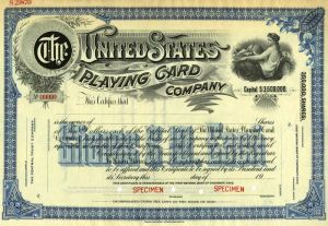 United States Playing Card Company - Specimen - SOLD