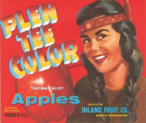 Fruit Crate Label - Plen Tee Color