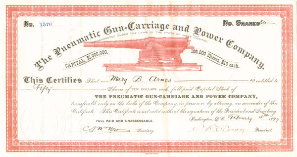 Pneumatic Gun-Carriage and Power Company