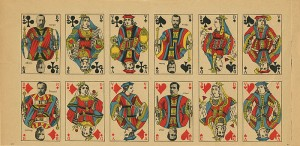 Uncut Sheet of 12 Playing Cards