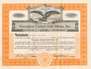 Porcupine United Gold Mines, Inc.