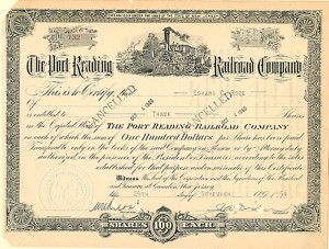 Port Reading Railroad Company - SOLD