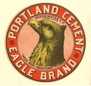 Portland Cement Eagle Brand Crate Label