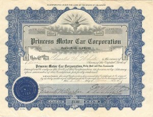 Princess Motor Car Corporation - SOLD