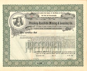 Altamina Mining Corporation Stock Certificate Utah