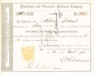 Providence and Worcester Railroad Company - SOLD