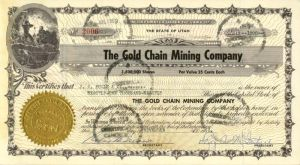 Gold Chain Mining Company - SOLD