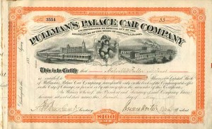 Pullman's Palace Car Company signed by Chief Justice Mellville W. Fuller