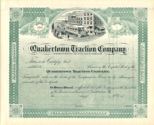 Quakertown Traction Company - SOLD