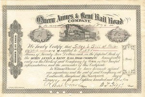 Queen Annes & Kent Railroad Company - SOLD