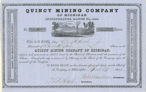 Quincy Mining Company of Michigan - SOLD