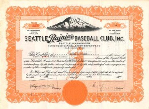 Seattle Rainier Baseball Club, Inc.