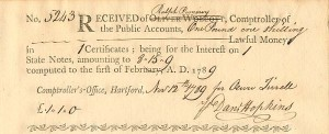 Receipt of Lawful Money from  Ralph Pomeroy