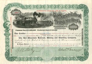 Red Mountain Railroad, Mining and Smelting Company - SOLD