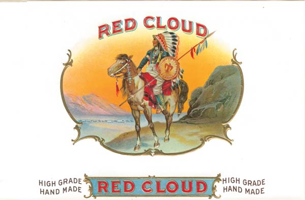 Cigar Box Labels - Red Cloud