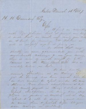 Johnson & Remington Exchange Bank Letters Autographed Signed by Samuel Remington, Sold as a Pair