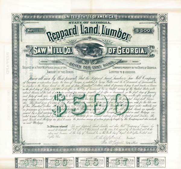 Reppard Land Lumber Saw Mill Company of Georgia