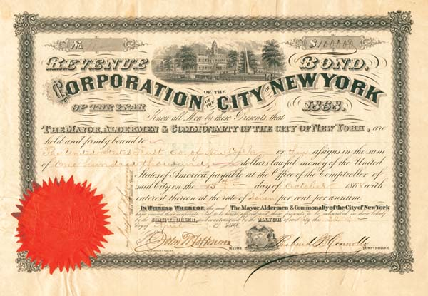 Corporation of the City of New York - Bond