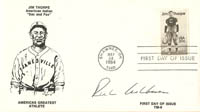Jim Thorpe envelope signed by Richie Ashburn