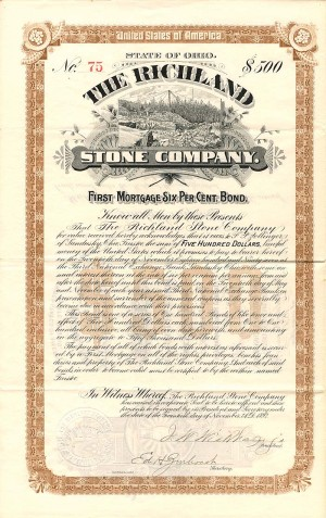 Richland Stone Company - $500 Bond - SOLD