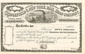 Ridgefield & New York Railroad Company - SOLD
