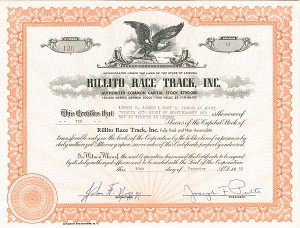 Rillito Race Track, Inc. - SOLD