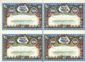 Ringling Bros. Sheet of 4