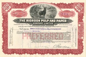 Riordon Pulp and Paper Company, Limited