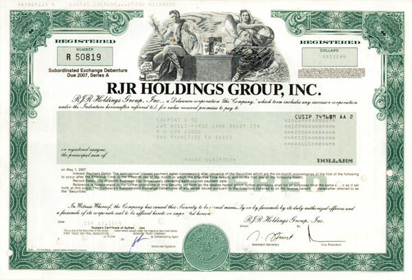 RJR Holdings Group, Inc
