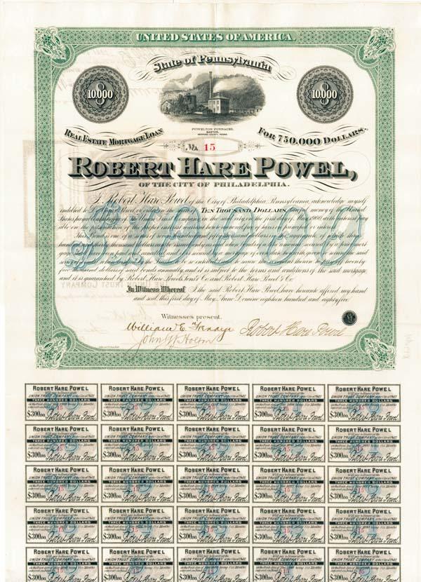 Robert Hare Powel, Philadelphia - Bond