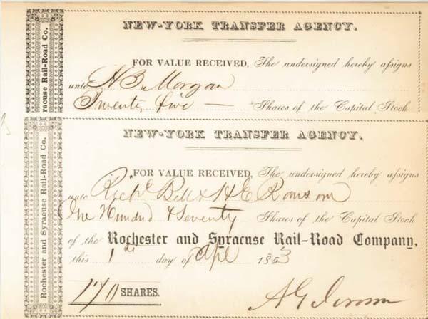 Addison G. Jerome - Rochester & Syracuse Railroad