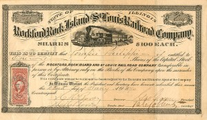 Rockford Rock Island and St. Louis Railroad Company - SOLD