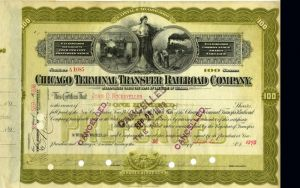 Chicago Terminal Transfer Railroad Company- signed by J.D. Rockefeller and George Rogers - SOLD
