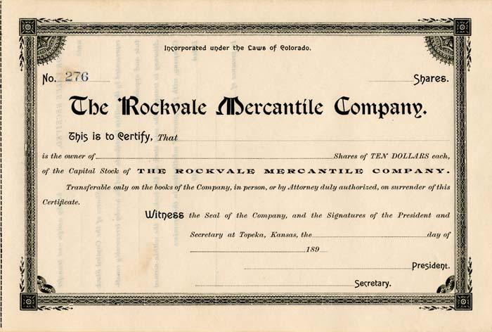 Rockvale Mercantile Company