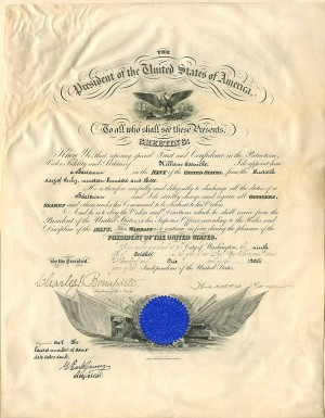 Naval Appointment signed by Theordore Roosevelt