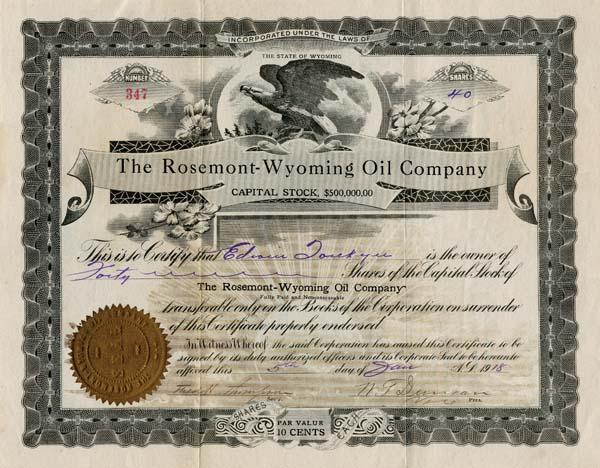 Rosemont-Wyoming Oil Company