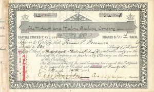 Mohawk and Malone Railway Company signed by Chauncey M. Depew & E.V.W. Rossiter