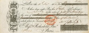 Bill of Exchange signed by Nathan Rothschild - SOLD