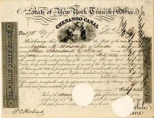 State of New York Transfer Office signed by Attorney of Nathan Meyer Rothschild - SOLD
