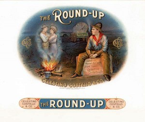 "Cigar Box Label ""Round-Up"""