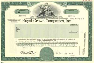 Royal Crown Companies, Inc - SOLD