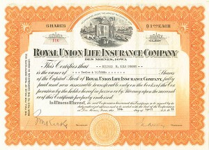 Royal Union Life Insurance Co - SOLD