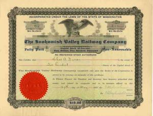Snohomish Valley Railway Compay