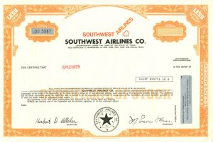 Southwest Airlines Co. SOLD