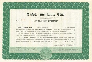Saddle and Cycle Club - SOLD