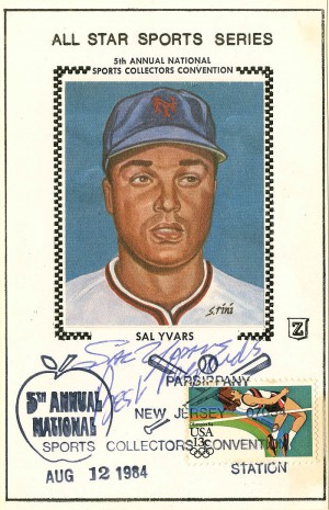 Sal Yvars Convention Card - SOLD