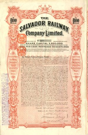 Salvador Railway Company Limited £100
